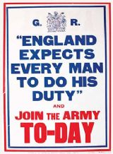 England Expects- Metal Wall Sign (3 Sizes)